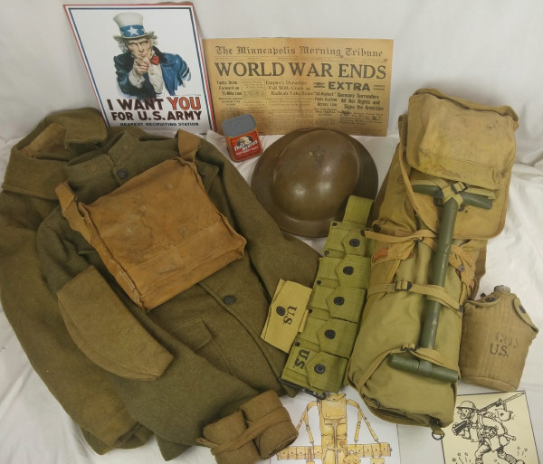World War I trunk contents