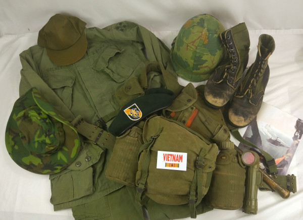 Vietnam War Trunk Contents