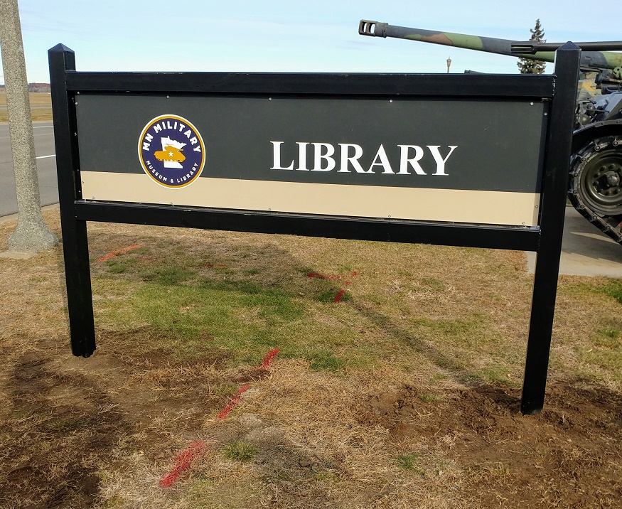 New sign for the library