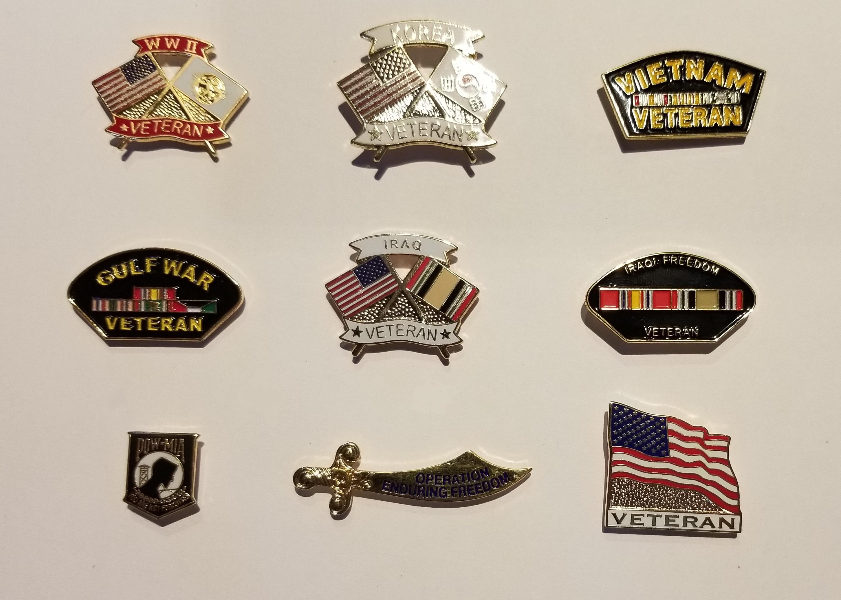 Veteran Lapel Pins