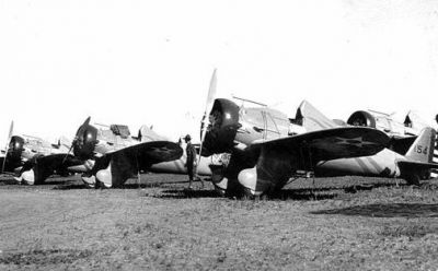 P-22s at Camp Ripley in 1940.