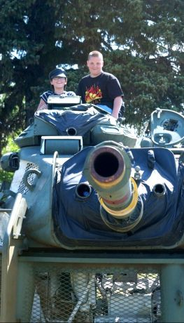 Kids always enjoy our tank turret.