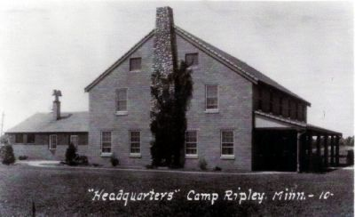 Post headquarters about 1940.  It later became known as Nelson Hall in honor of a former Adjutant General, MG Joseph E. Nelson.  It now serves as headquarters for the DNR's enforcement division.