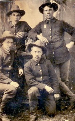 Vosika (upper right) with his comrades in arms.