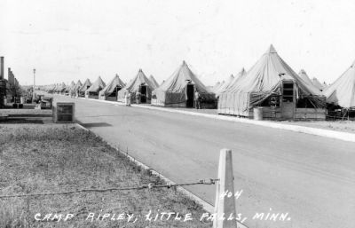 Tent city, 1940.  Troops slept under canvas until the mid-1960s.