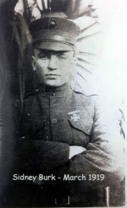 Private Burk in March 1919, shortly before his discharge.