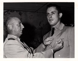Roger D. Stenzel Receiving his Wings, 1964