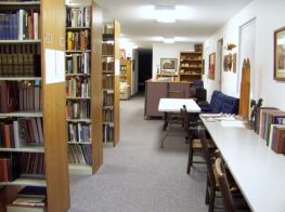 The library has space for study.