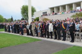 Memorial Day ceremonies at Henri-Chapelle American Cemetery, May 28, 2016.