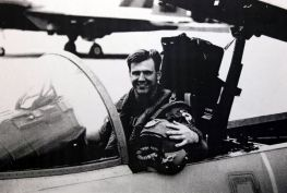 As a pilot in his F-15C, 1996.