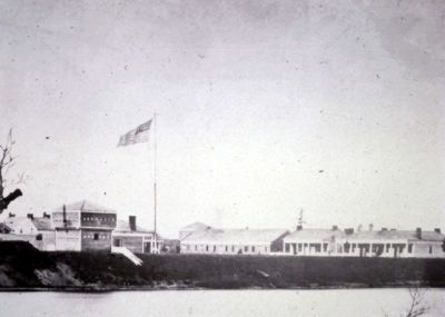Ft. Ripley as seen from the east side of the Mississippi River in 1862.