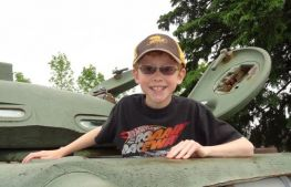 Kids and adults alike can climb into a tank turret.