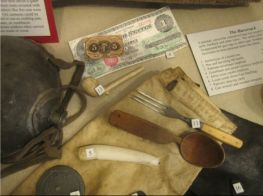 Contents of a Civil War Haversack.