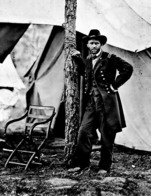 General Ulysses S. Grant, commander of the Union Army, in the field at Cold Harbor, VA, 1865.  (Matthew Brady/National Archives)