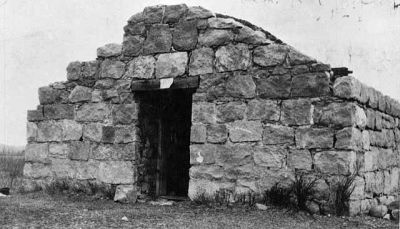 The powder magazine about 1920. The remains of this building are all that remain today of the old original fort.